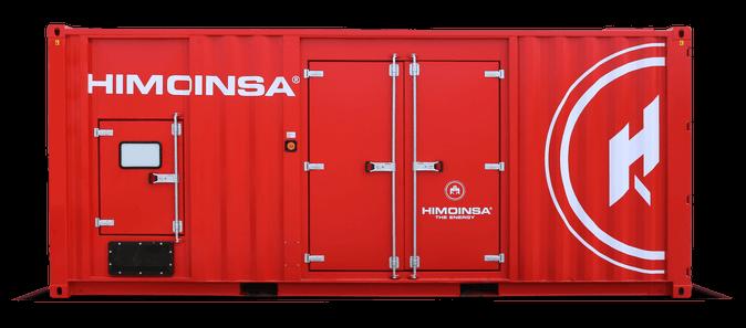 En rød container med HIMOINSA logo.